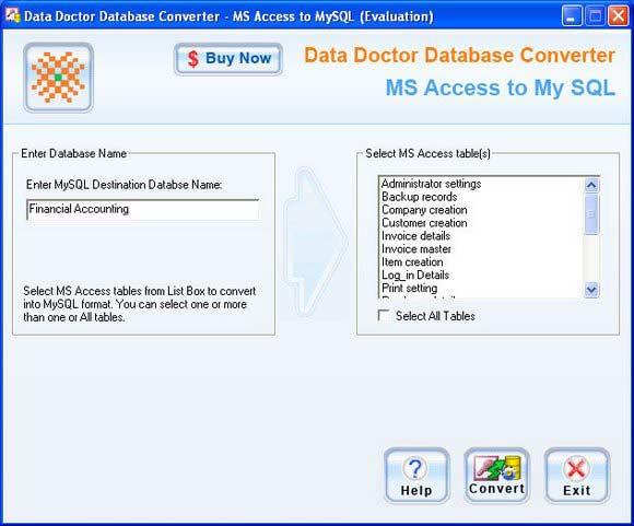 Free download Convert MDB Files to Mysql